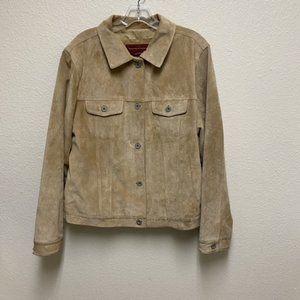 Eddie Bauer Authentic Seattle Suede Jacket Sz L
